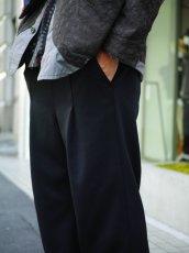 画像8: VARDE77 EASY WIDE TRACK PANTS BLACK (8)