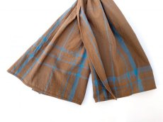 画像3: ts(s) Large Plaid Cotton*Wool Cloth Stole BROWN (3)