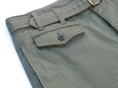 画像3: ts(s) Supima Cotton Herringbone Cloth / D-ring Belted Shorts OLIVE (3)