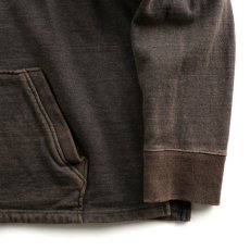 画像2: VARDE77 FADED SWEAT PARKA CHARCOAL BROWN  (2)