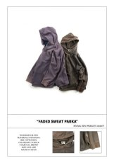 画像6: VARDE77 FADED SWEAT PARKA CHARCOAL BROWN  (6)