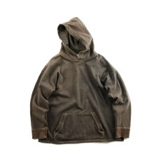 画像1: VARDE77 FADED SWEAT PARKA CHARCOAL BROWN  (1)