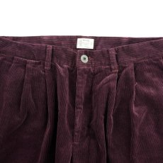 画像2: VARDE77 2TAC CORDUROY PANTS WINE RED (2)