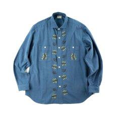 画像1: VARDE77 EYE SOLID FLANNEL SHIRTS BLUE (1)