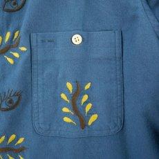 画像4: VARDE77 EYE SOLID FLANNEL SHIRTS BLUE (4)