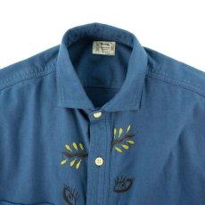 画像2: VARDE77 EYE SOLID FLANNEL SHIRTS BLUE (2)