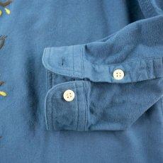 画像5: VARDE77 EYE SOLID FLANNEL SHIRTS BLUE (5)