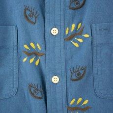 画像3: VARDE77 EYE SOLID FLANNEL SHIRTS BLUE (3)