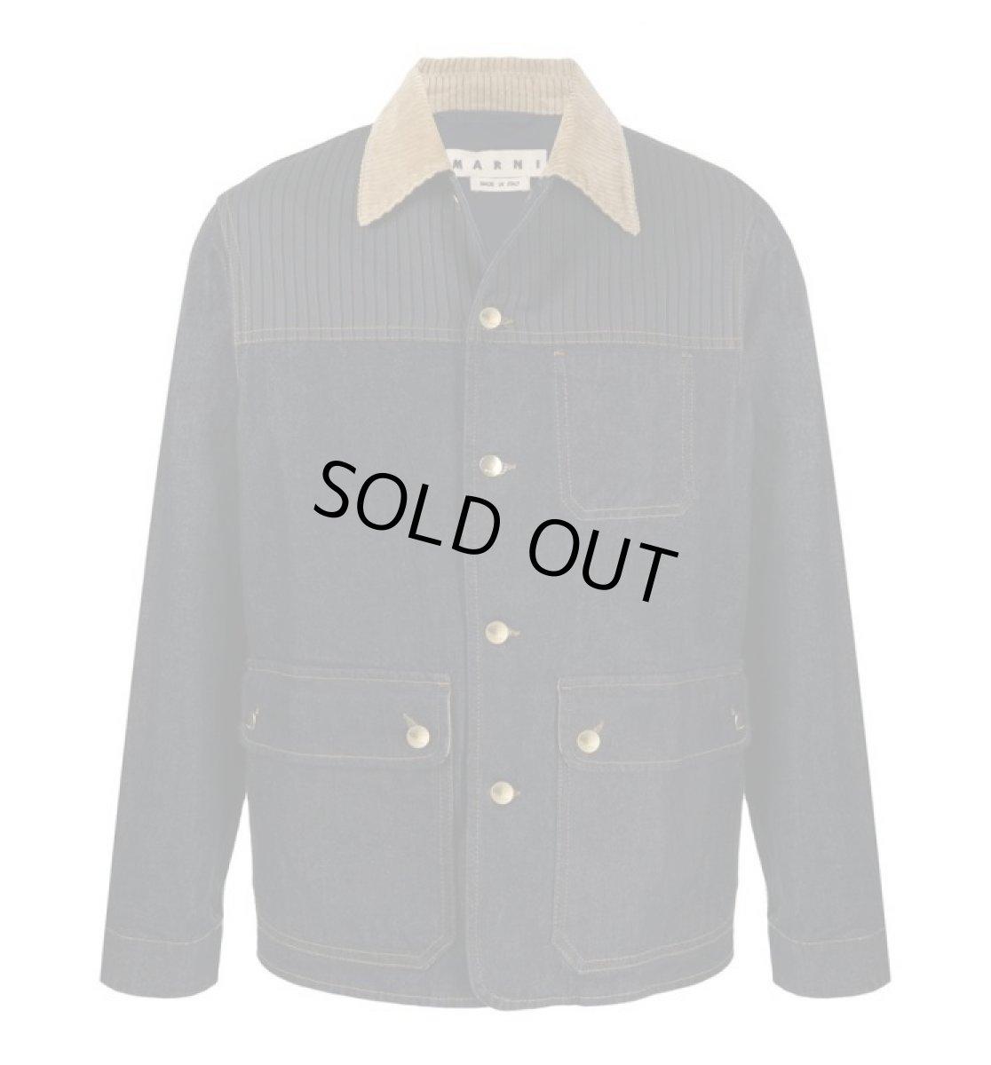 画像1: M A R N I  Indigo denim work jacket  (1)