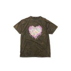 画像1: JUNKIE HEART DYED T-SHIRTS BROWN (1)