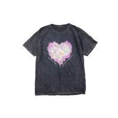 画像1: JUNKIE HEART DYED T-SHIRTS BLACK (1)