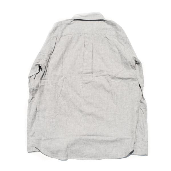 画像3: ts(s) Cotton Heather Soft Flannel B.D. Shirt Light Gray