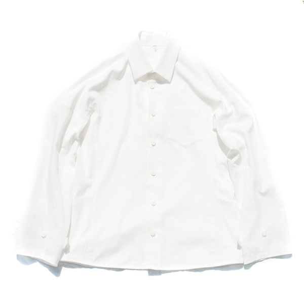 画像1: Mechanic work shirts White