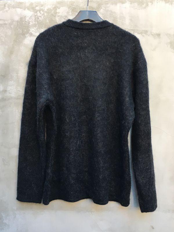 画像5: Crew kneck mohair knit  BLACK