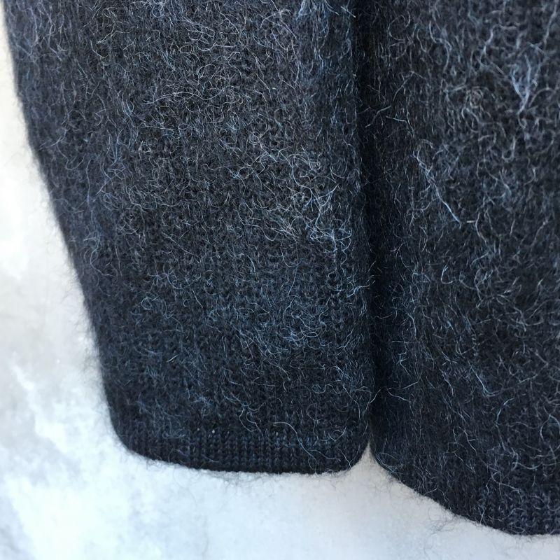 画像4: Crew kneck mohair knit  BLACK