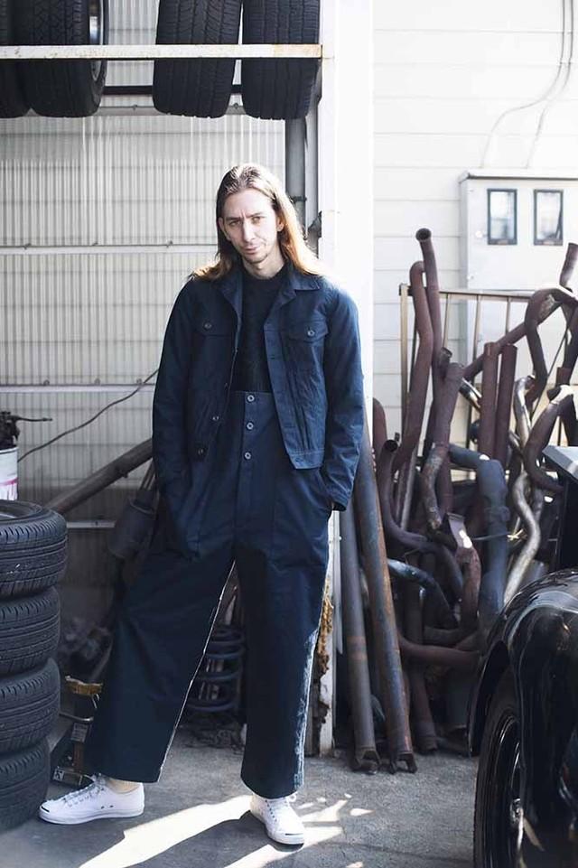画像3: High waist wide work pants