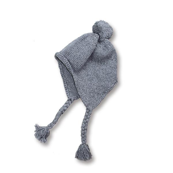 画像1: Crew kneck mohair knit  BLACK