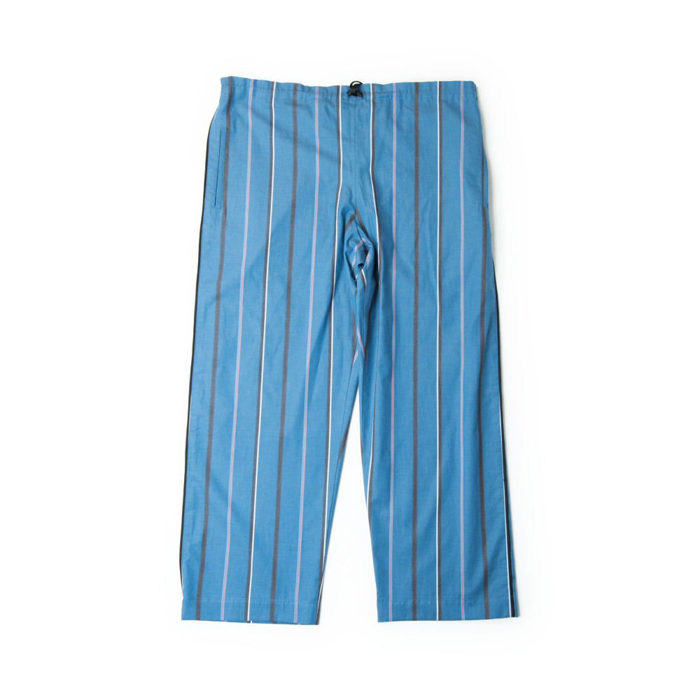 画像1: STRIPE PAJAMA PANTS NAVY