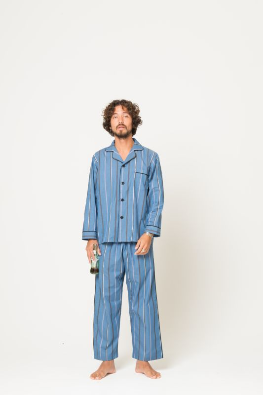 画像4: STRIPE PAJAMA PANTS NAVY