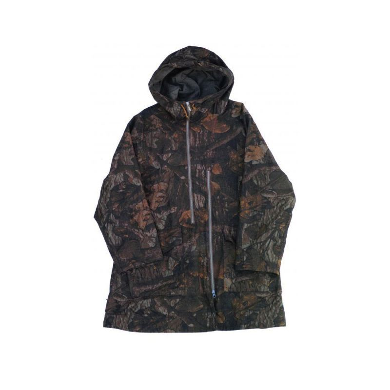 画像1: ts(s) Realtree Camo Cotton Ripstop Cloth 2 Line Zip Hooded Coat BROWN