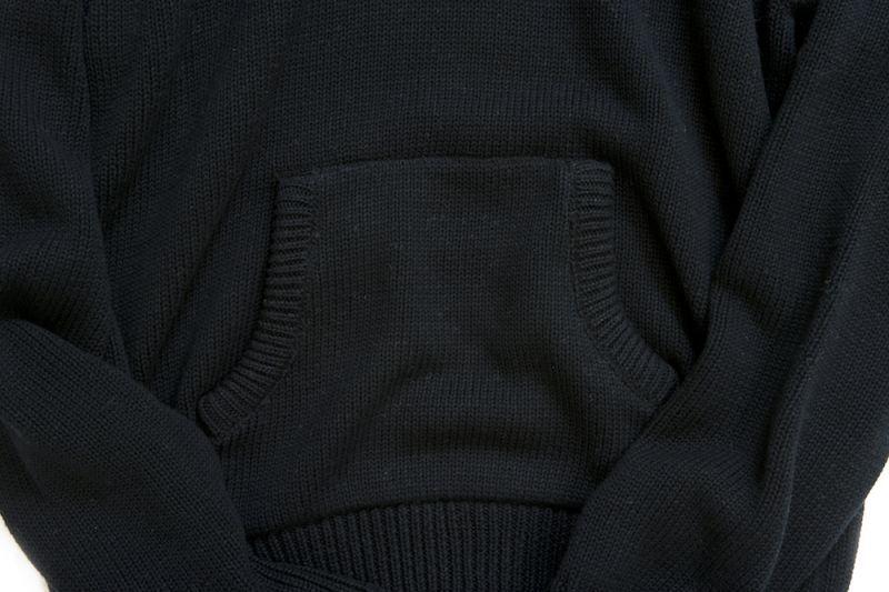 画像4: KNITTING CHANGE HOODED SWEATER BLACK