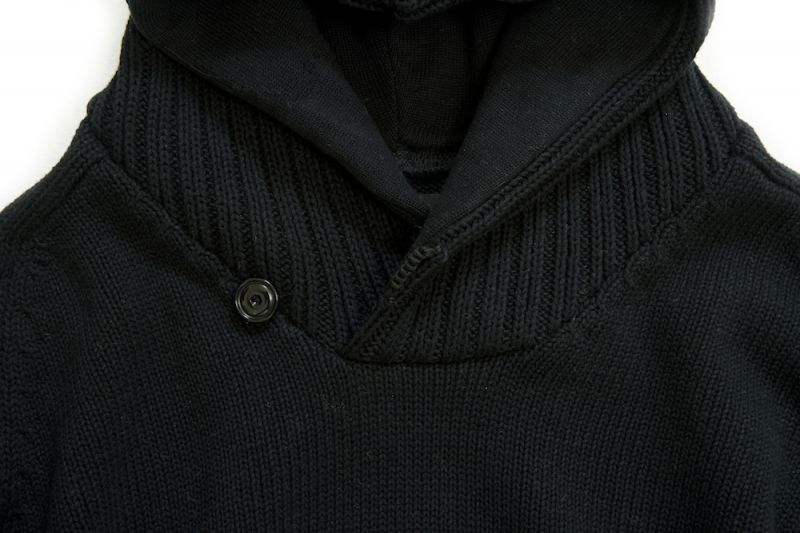 画像3: KNITTING CHANGE HOODED SWEATER BLACK
