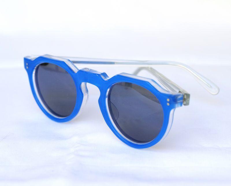 画像1: LESCA VINTAGE CROWNPANTO BLUE (1)