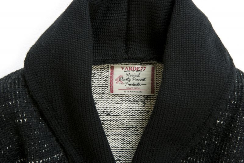 画像5: COMPOUNDED SHAWL COLLAR  KNIT CARDIGAN BLACK