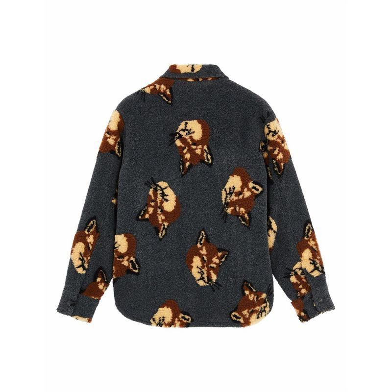 画像2: ALL-OVER FOX HEAD JOHN OVERSHIRT