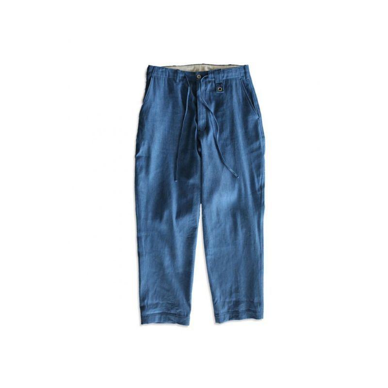 画像1: EYELET DENIM PANTS BLUE