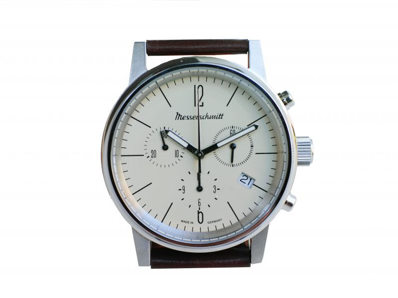 画像1: MESSERSCHMITT CHRONOGRAPH 2019MODEL PALE WHITE (1)