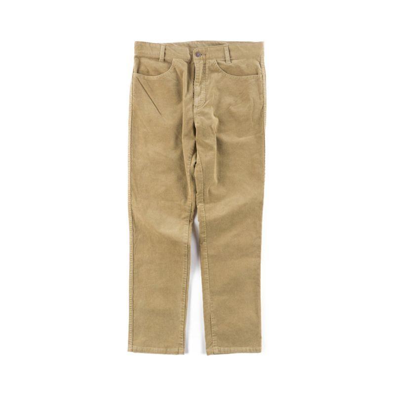画像1: VINTAGE STRETCH CORDUROY PANTS BEIGE (1)