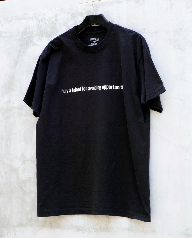 画像1: RAVEN MASSAGE T-SHIRTS -USA made-BLACK (1)