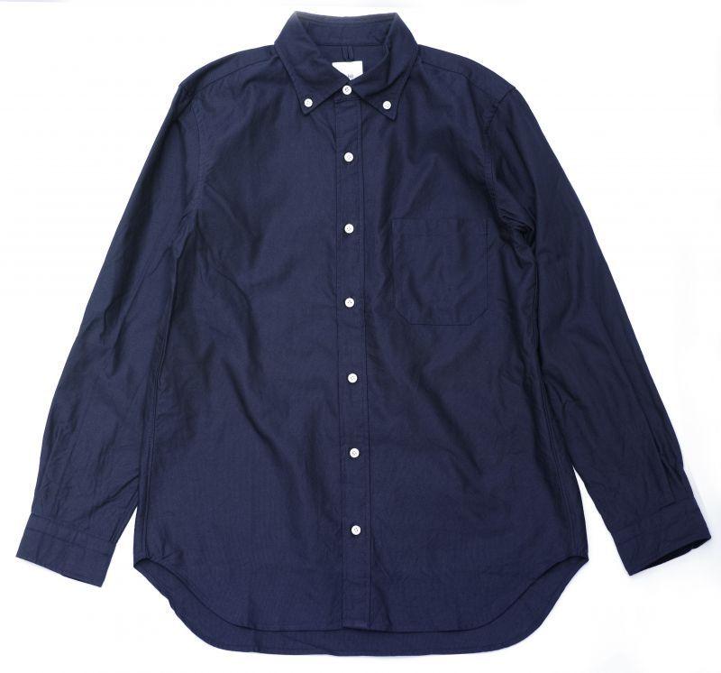 画像1: ts(s) Middle Weight Cotton Oxford Cloth B.D. Shirt NAVY (1)