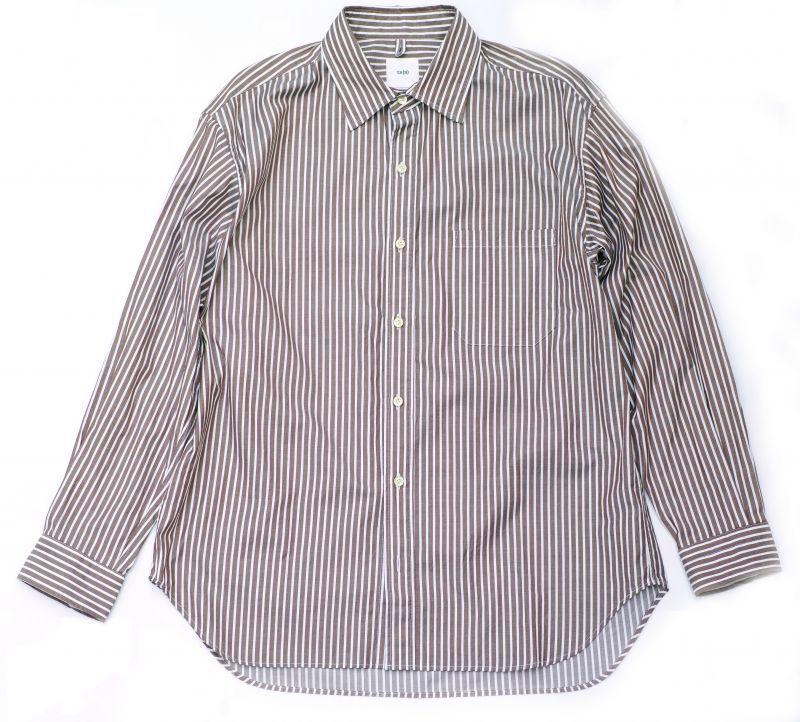 画像1: ts(s) 80/2 Cotton Bengal Stripe Cloth Baggy Fit Shirt BROWN (1)