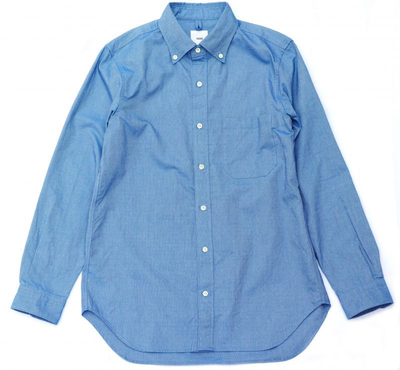画像1: ts(s) Middle Weight Cotton Oxford Cloth B.D. Shirt BLUE (1)
