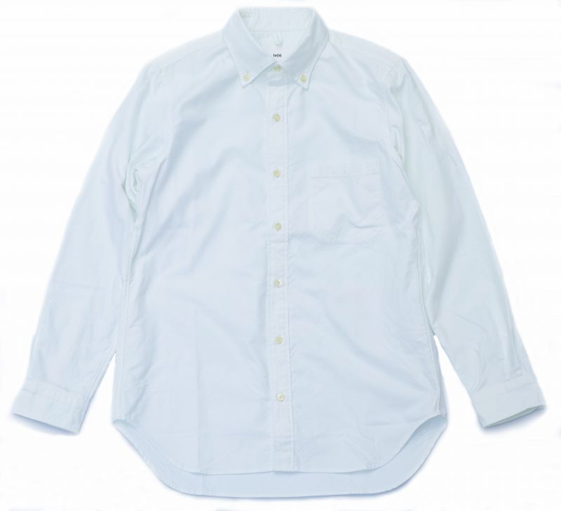画像1: ts(s) Middle Weight Cotton Oxford Cloth B.D. Shirt WHITE (1)