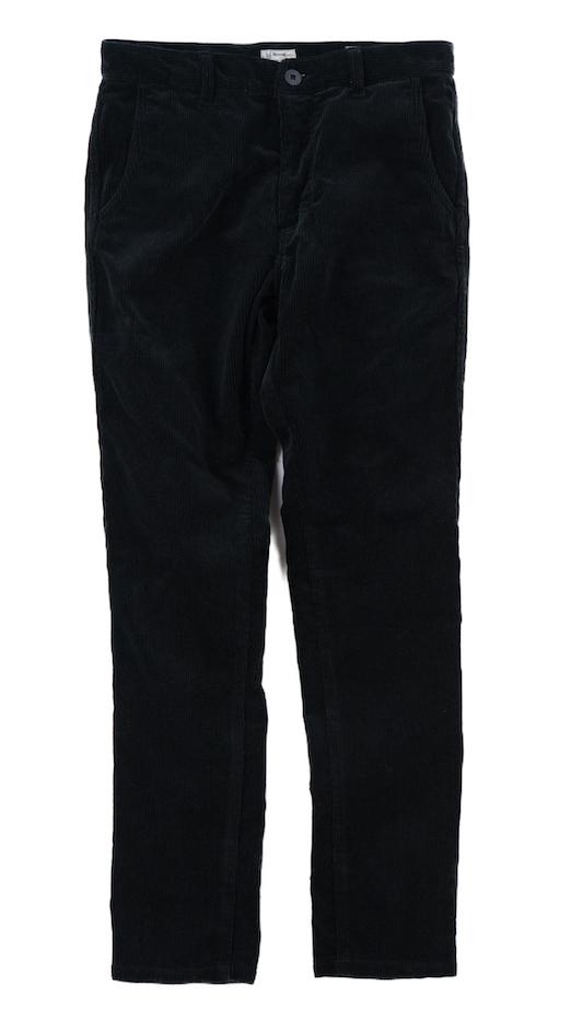 画像1: VARDE77 TAPERED CORDUROY PANTS  BLACK (1)
