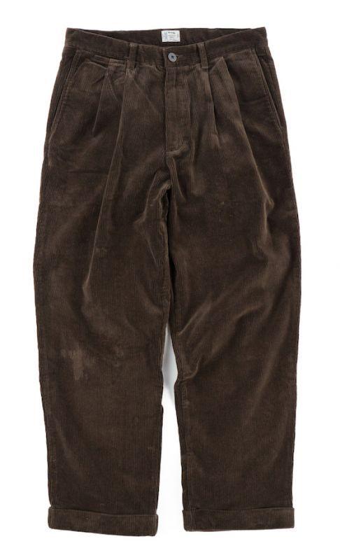 画像1: VARDE77 2TAC CORDUROY PANTS BROWN (1)