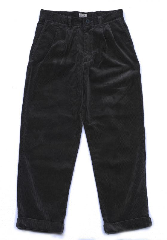 画像1: VARDE77 2TAC CORDUROY PANTS BLACK (1)