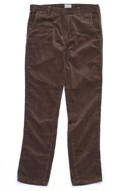 画像1: VARDE77 TAPERED CORDUROY PANTS  BROWN (1)