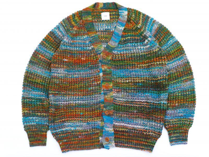 画像1: ts(s) Wool*Acrylic Multi Color Knit Cardigan (1)