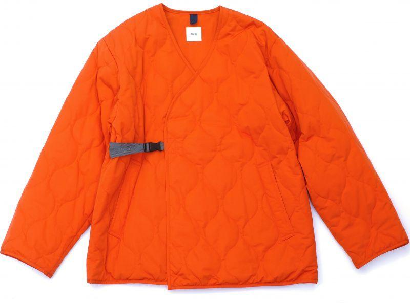画像1: ts(s) Lightweight High Count Polyester*Cotton Poplin Cloth Quilted Liner Buckle Jacket ORANGE (1)