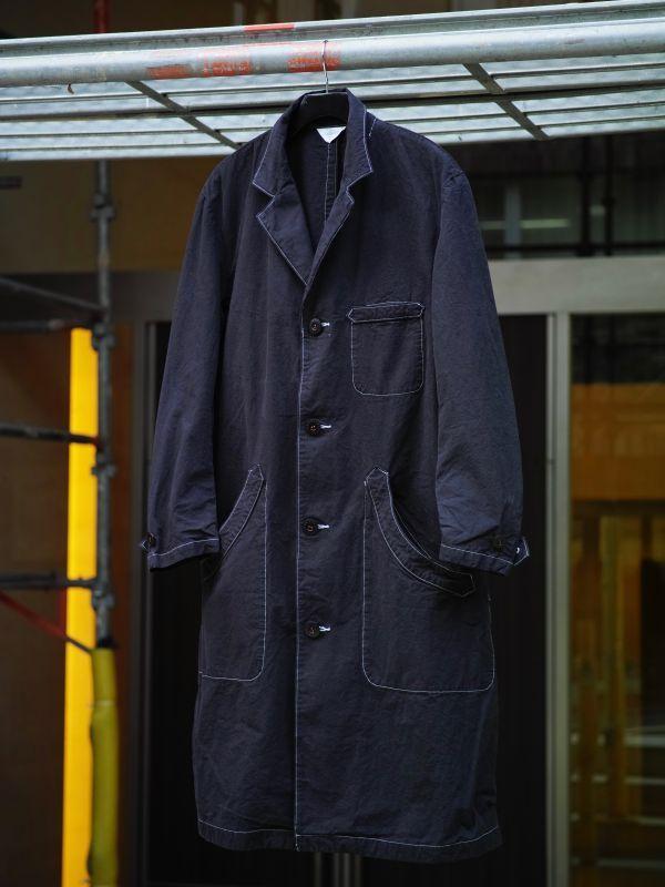 画像1: PHABLIC×KAZUI SHOP COAT VINTAGE BLACK (1)