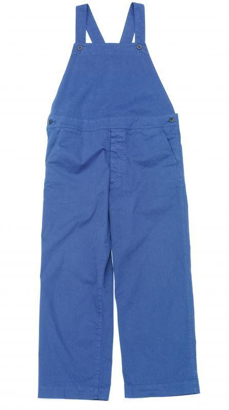 画像1: ts(s) Garment Dye Brushed Pinstripe Stretch Cloth Old Style Bib Overalls ROYAL (1)