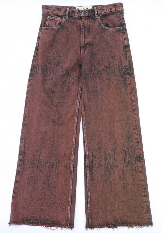 画像1: M A R N I  OVERDYED DENIM PANTS (1)