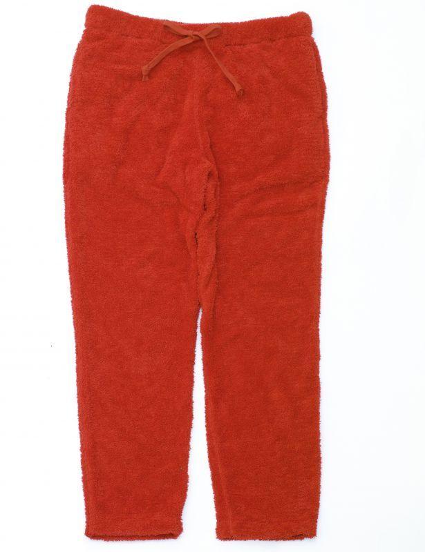 画像1: ts(s) Fluffy Polyester Fleece Jersey Slim Sweat Pants RED (1)