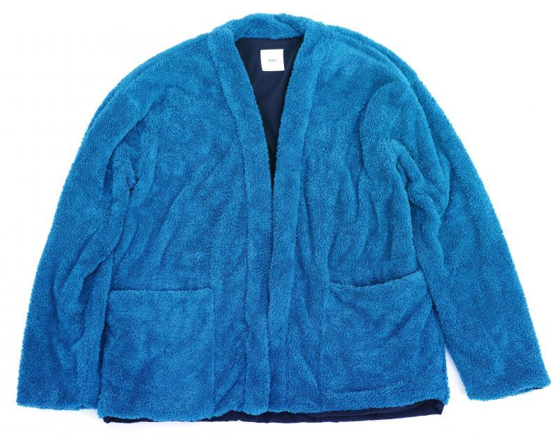 画像1: ts(s) Fluffy Polyester Fleece Jersey Lined Easy Cardigan BLUE (1)