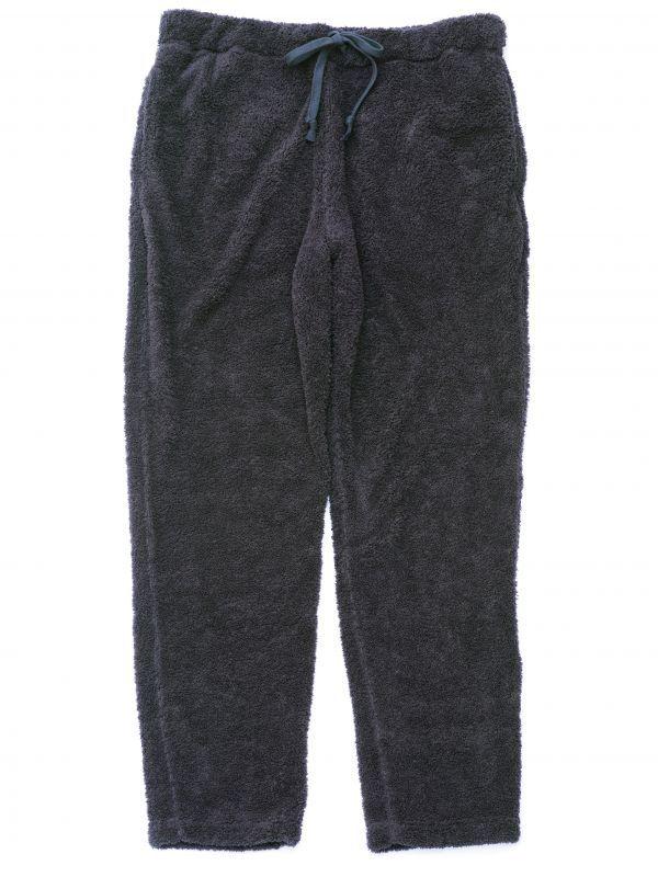 画像1: ts(s) Fluffy Polyester Fleece Jersey Slim Sweat Pants NAVY (1)