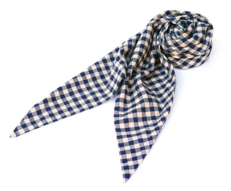 画像1: ts(s) Double-sided Brushed Block Plaid Cotton Cloth Bias Cut Scarf BEIGE (1)